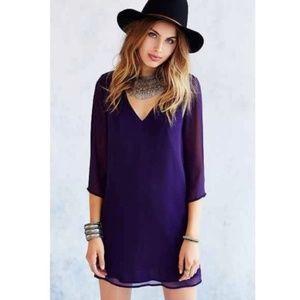 ecote Purple A-Line Sheath Chiffon Dress nwot